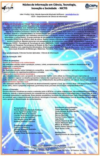 Líder: Prof(a). Dr(a).  Wanda  Aparecida Machado Hoffmann -  wanda@ufscar.br