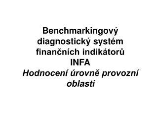 Benchmarkingový diagnostický systém finančních indikátorů  INFA Hodnocení úrovně provozní oblasti