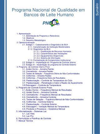 Programa Nacional de Qualidade em