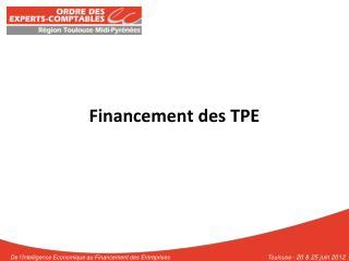 Financement des TPE