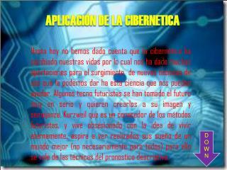 APLICACIÓN DE LA CIBERNETICA