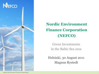 Nordic Environment Finance Corporation NEFCO
