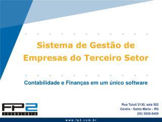 Sistema de Gestão de Empresas do Terceiro Setor