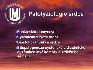 Patofyziologie srdce