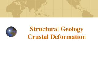 Structural Geology Crustal Deformation