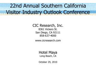 22nd Annual Southern California Visitor Industry Outlook Conference