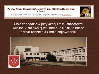 Oferta edukacyjna naszej szkoły w roku szkolnym 2010/2011 LICEUM OGÓLNOKSZTAŁCĄCE