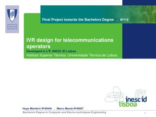 Final Project towards the Bachelors Degree    .   Nº119
