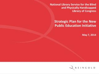 National Library Service for the Blind and Physically Handicapped Library of Congress