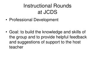 Instructional Rounds at JCDS