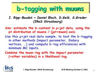 b-tagging with muons
