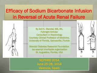 Efficacy of Sodium Bicarbonate Infusion in Reversal of Acute Renal Failure