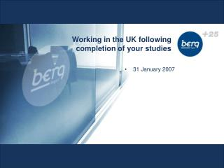 Working in the UK following completion of your studies
