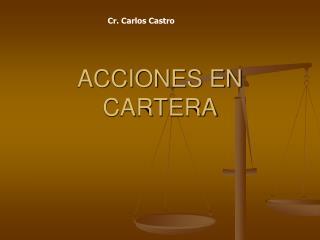 ACCIONES EN CARTERA