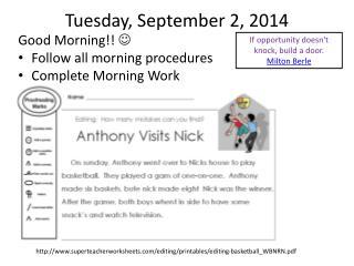 Tuesday, September 2, 2014
