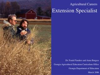 Agricultural Careers Extension Specialist