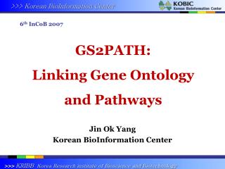 GS2PATH:  Linking Gene Ontology and Pathways