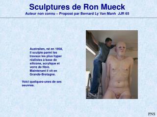 Sculptures de Ron Mueck Auteur non connu � Propos� par Bernard Ly Van Manh  JJR 65