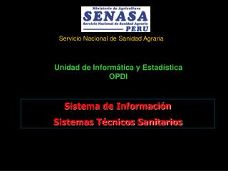 Sistema de Información  Sistemas Técnicos Sanitarios