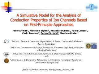 1  INFM-S3 Research Center and  Dipartimento di Fisica, Università di Modena e Reggio Emilia Italy