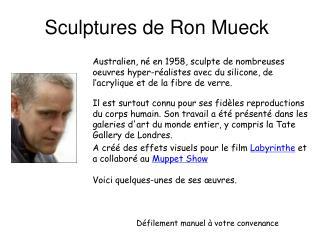 Sculptures de Ron Mueck