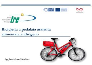 Bicicletta a pedalata assistita alimentata a idrogeno