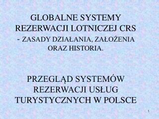 FUNKCJE SYSTEMÓW CRS