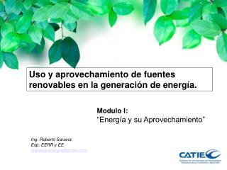 Uso y aprovechamiento de fuentes renovables en la generación de energía.
