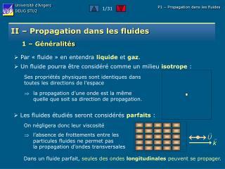 II – Propagation dans les fluides