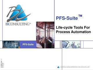 PFS-Suite Life-cycle Tools For Process Automation