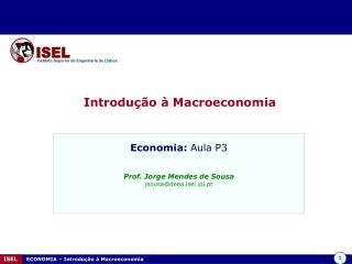 ISEL     ECONOMIA   Introdu  o   Macroeconomia