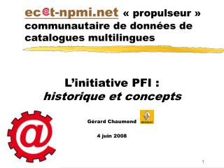 ec t-npmi ��propulseur�� communautaire de donn�es de catalogues multilingues