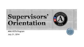 Supervisors' Orientation