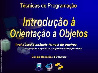 Prof.:  José Eustáquio Rangel de Queiroz rangel@dsc.ufcg.br, rangeldequeiroz@gmail
