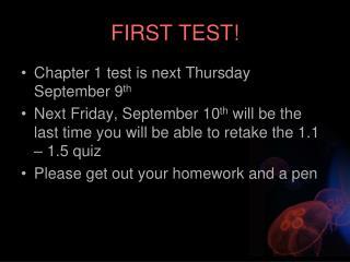 FIRST TEST!
