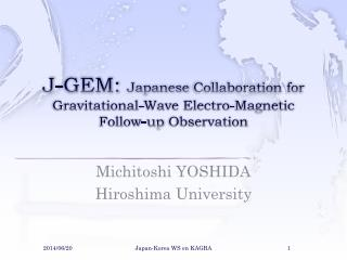 J-GEM: Japanese  Collaboration for Gravitational-Wave Electro-Magnetic Follow-up  Observation