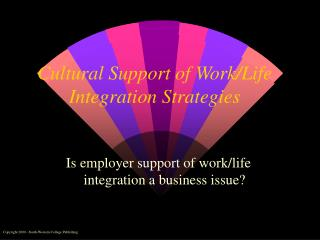 Cultural Support of Work/Life Integration Strategies