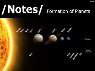 /Notes/  Formation of Planets