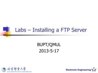 Labs – Installing a FTP Server