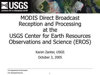 Karen Zanter, USGS October 3, 2005