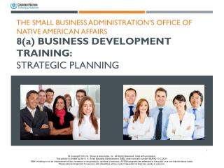 8( a )  Business Development  Training:  Strategic Planning