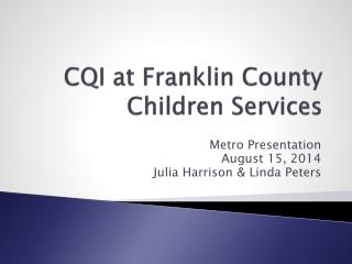 CQI at Franklin County Children Services