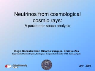 Neutrinos from cosmological cosmic rays: A parameter space analysis