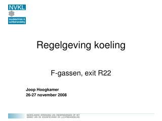 Regelgeving koeling