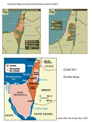 Historical Maps of Israel and the Arab-Israeli Conflict