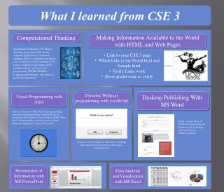 What I learned from CSE 3