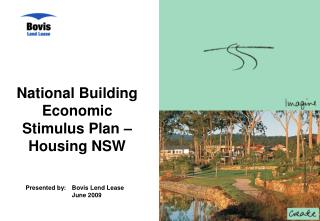 National Building Economic Stimulus Plan – Housing NSW