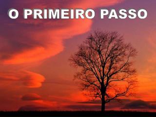O PRIMEIRO PASSO