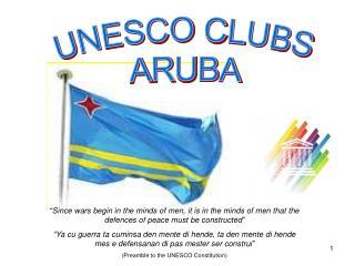 UNESCO CLUBS  ARUBA