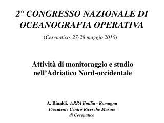 2° CONGRESSO NAZIONALE DI OCEANOGRAFIA OPERATIVA